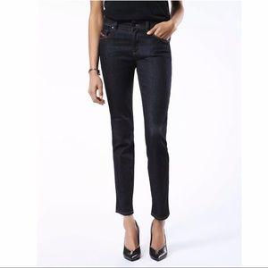 NEW Diesel dark wash slim straight stretchy jeans